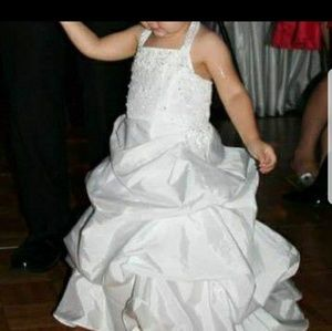 Miniature bridal or flower girl gown